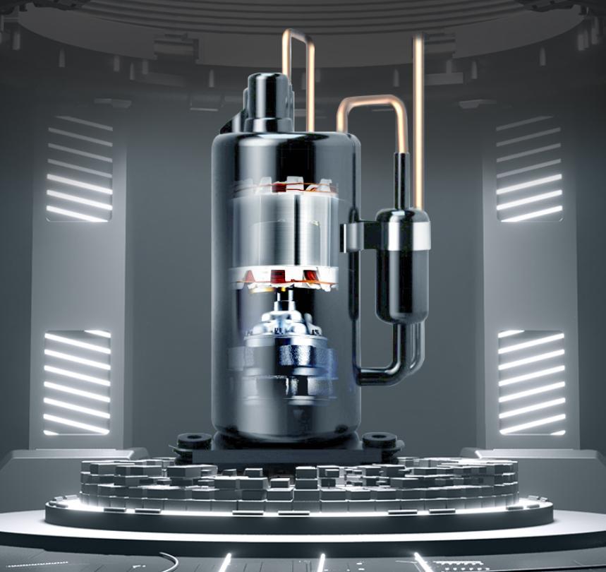 Hệ thống máy nén của máy hút ẩm công nghiệp Dorosin