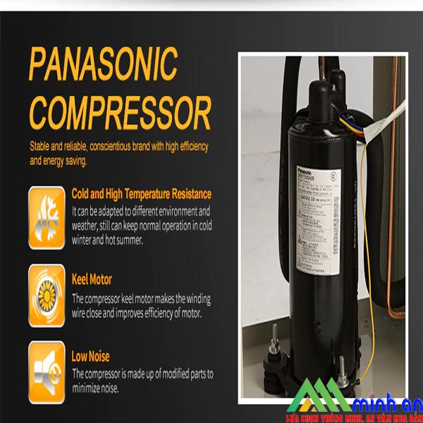 Hệ thống máy nén Panasonic của máy hút ẩm Dorosin