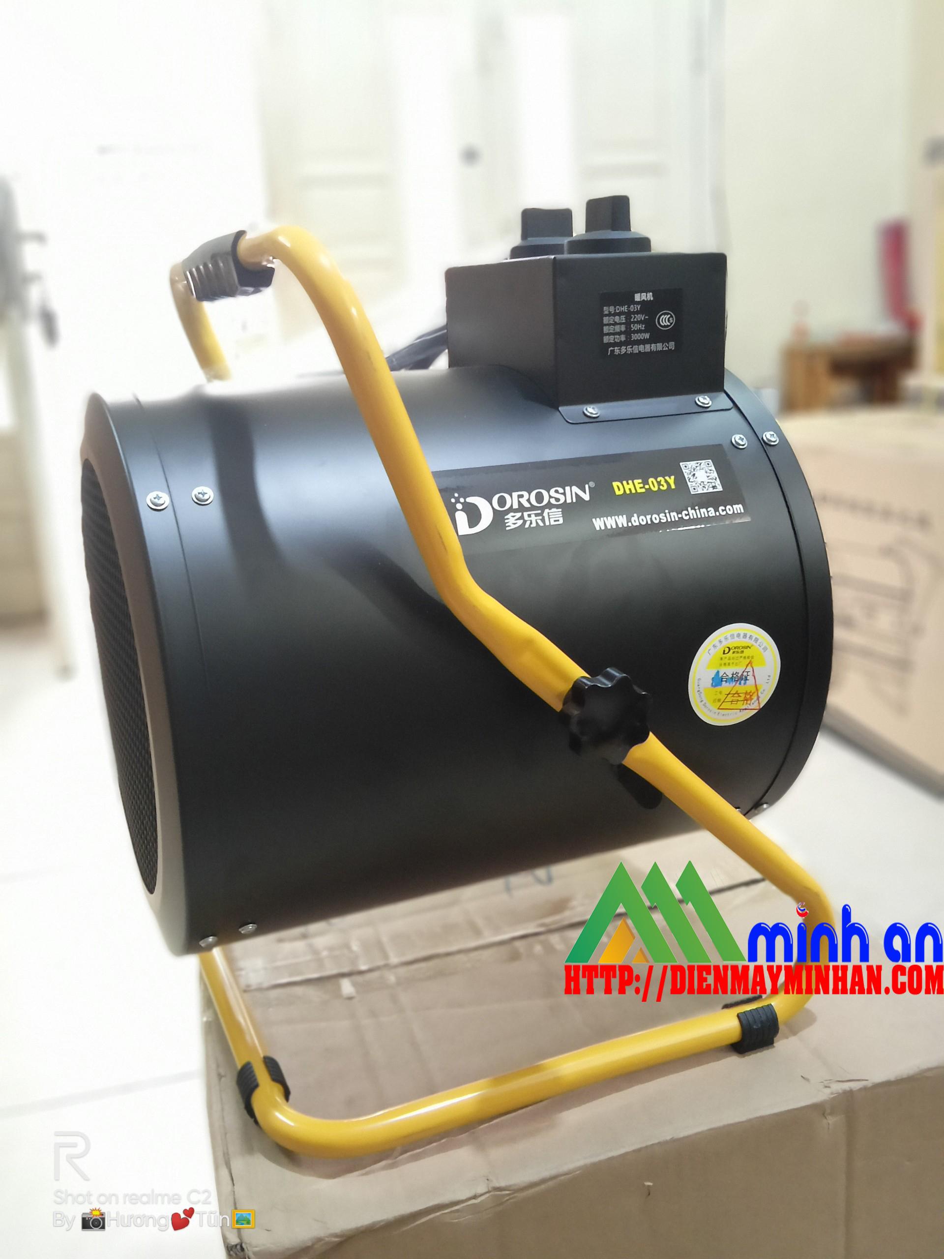 Máy sấy gió nóng công nghiệp Dorosin DHE-03Y ( 3KW)