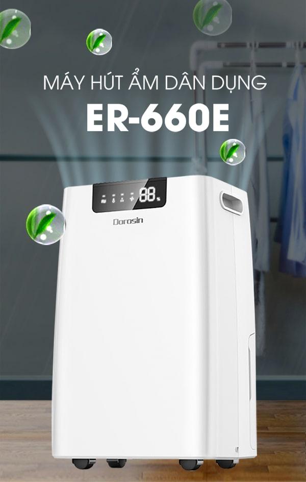 Máy hút ẩm Dorosin ER-660E-60 lit/ngày.