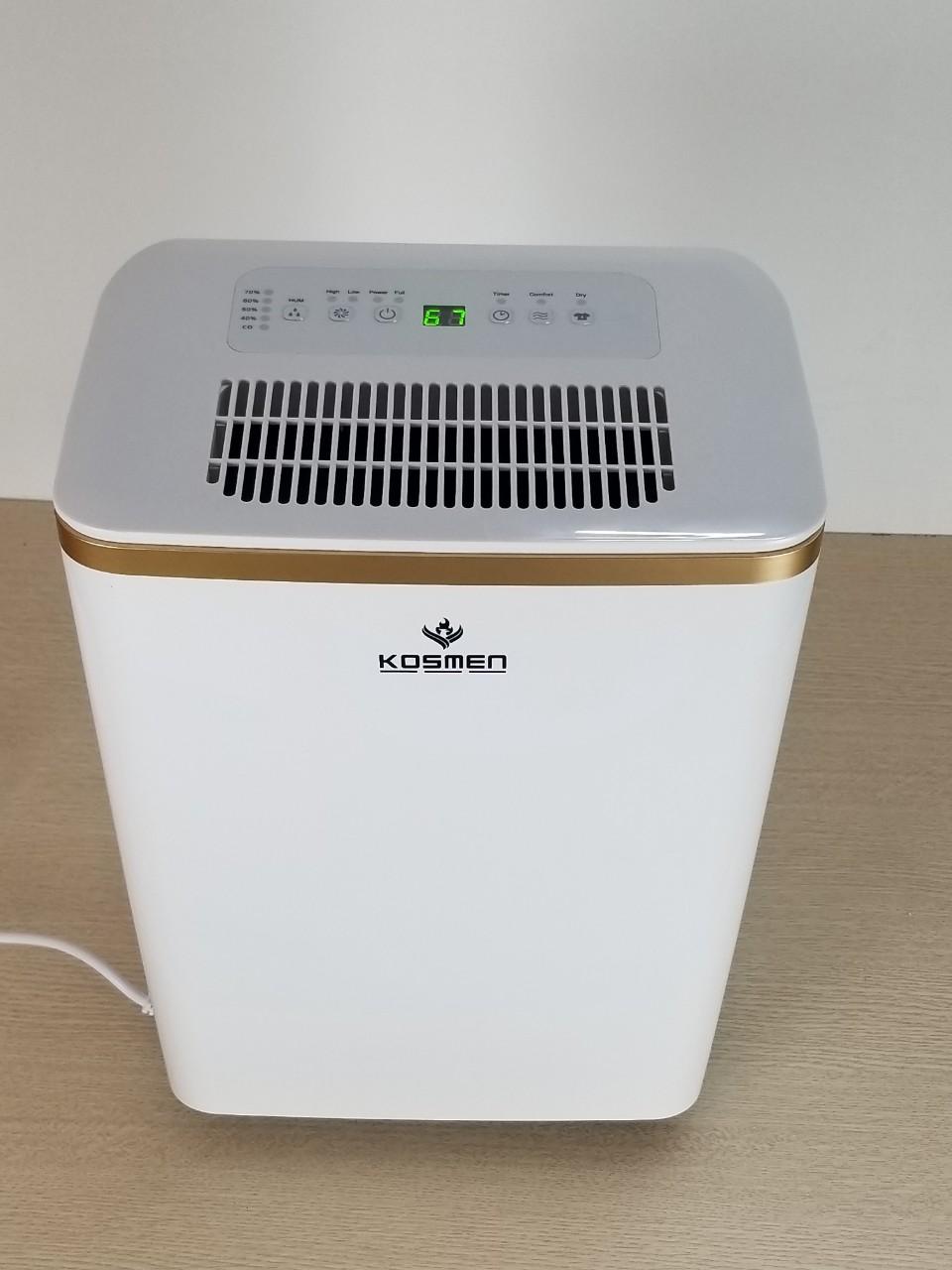 Mặt trên của máy hút ẩm dân dụng Kosmen KM-12N